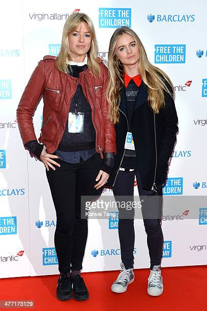 Isabella Calthorpe and Cressida Bonas attend We Day UK a charity event to bring young people together at Wembley Arena on March 7 2014 in London...