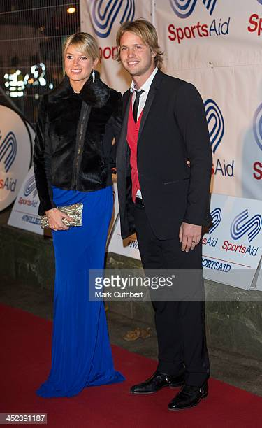 Isabella Calthorpe and Sam Branson attend the annual SportsAid dinner at Victoria Embankment Gardens on November 28 2013 in London England