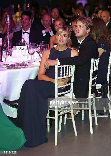Isabella Calthorpe and Sam Branson attend the Novak Djokovic Foundation inaugural London gala dinner at The Roundhouse on July 8 2013 in London...