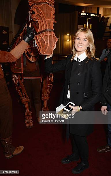 Isabella Calthorpe attend a NT Live gala performance of 'War Horse' at The New London Theatre Drury Lane on February 27 2014 in London England