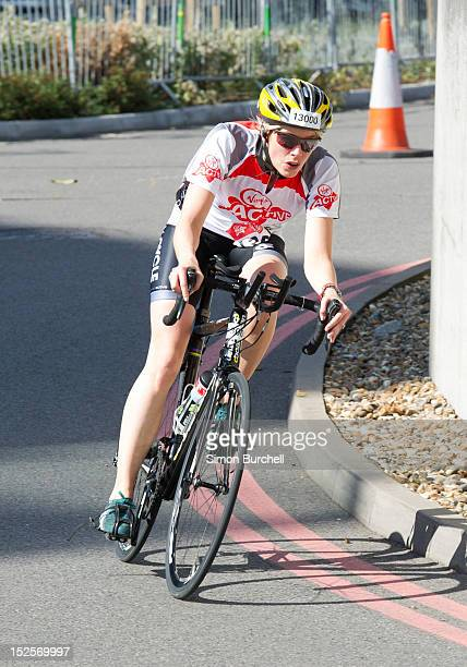 Isabella Calthorpe competes in the Virgin Active London Triathlon at ExCel on September 22 2012 in London England