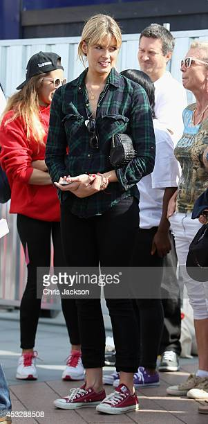 Isabella Calthorpe supports her husband Sam Branson as she attends the launch of the Virgin STRIVE challengeas they set off from the 02 Arena on...