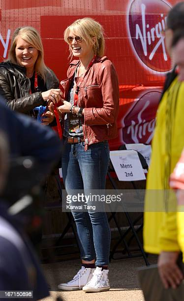 Isabella Calthorpe takes part in the Virgin London Marathon on April 21 2013 in London England