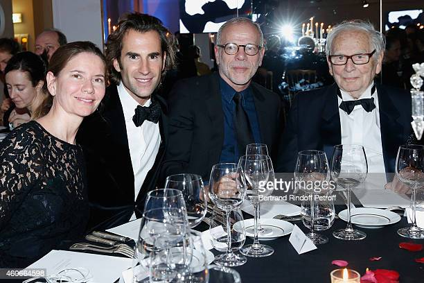 Isabella Capecce Organizer of the dinner Pierre pellegri Pascal Gregory and Pierre cardin attend the Annual Charity Dinner hosted by the AEM...