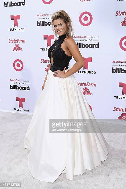 Isabella Castillo arrives at 2015 Billboard Latin Music Awards presented bu State Farm on Telemundo at Bank United Center on April 30 2015 in Miami...