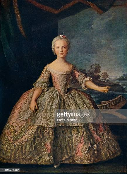 Isabella de Bourbon Infanta of Parma' 1747 Isabella of Parma was the granddaughter of Louis XV of France The painting is held by the Château de...