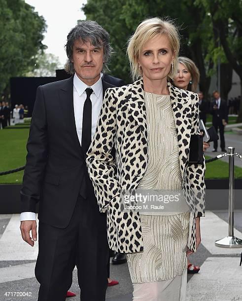 Isabella Ferrari and Renato De Maria attend the Giorgio Armani 40th Anniversary Silos Opening And Cocktail Reception on April 30 2015 in Milan Italy
