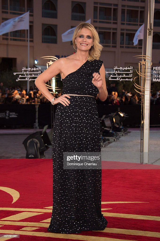 Isabella Ferrari arrives for the tribute to Hindi cinema at the 12th Marrakech International Film Festival on November 30,Marrakech International 12th Film Festival on December 1, 2012 in Marrakech, Morocco.