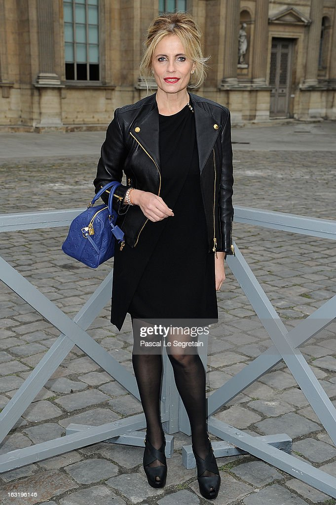 Isabella Ferrari attends the Louis Vuitton Fall/Winter 2013 Ready-to-Wear show as part of Paris Fashion Week on March 6, 2013 in Paris, France.