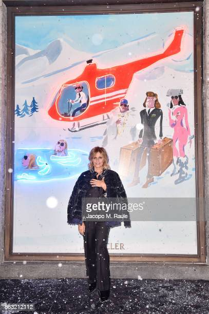 Isabella Ferrari attends the Moncler Flagship Store Opening Cocktail on October 19 2017 in Milan Italy
