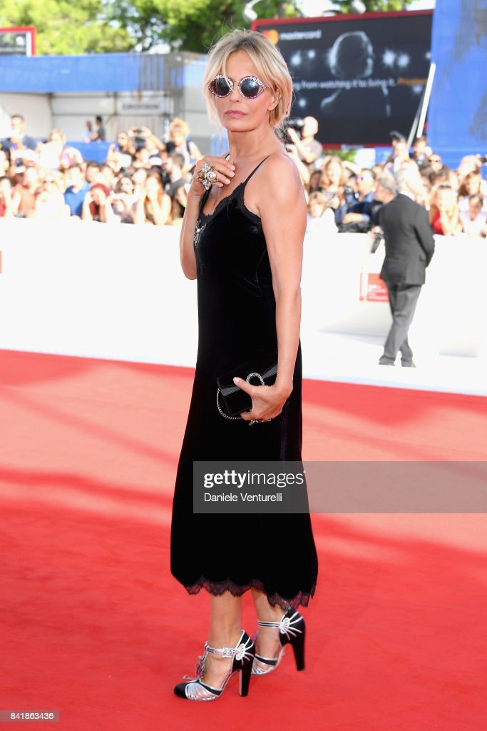 Isabella Ferrari from 'Diva!' movie walks the red carpet ahead of the 'Foxtrot' screening during the 74th Venice Film Festival at Sala Grande on September 2, 2017 in Venice, Italy.