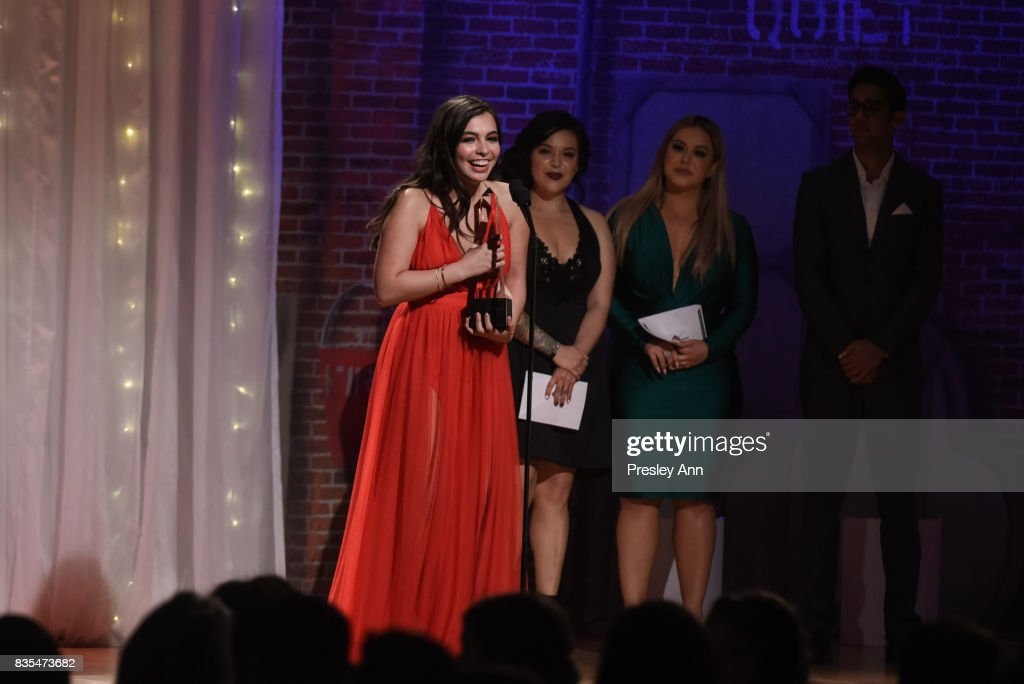 Isabella Gomez attends 32nd Annual Imagen Awards - Inside at the Beverly Wilshire Four Seasons Hotel on August 18, 2017 in Beverly Hills, California.