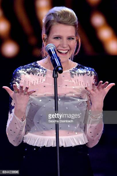 Isabella 'Levina' Lueen attends the 'Eurovision Song Contest 2017 Unser Song' show on February 9 2017 in Cologne Germany