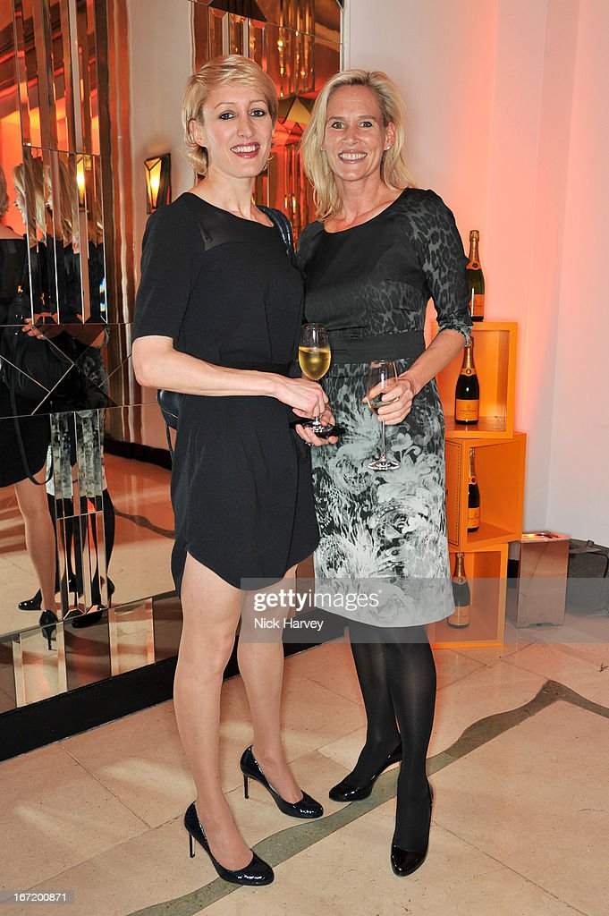 Isabella Macpherson and Tia Graham attend the Veuve Clicquot Business Woman of the Year award at Claridges Hotel on April 22, 2013 in London, England.