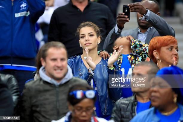 Isabella Matuidi wife of France's Blaise Matuidi in the stands