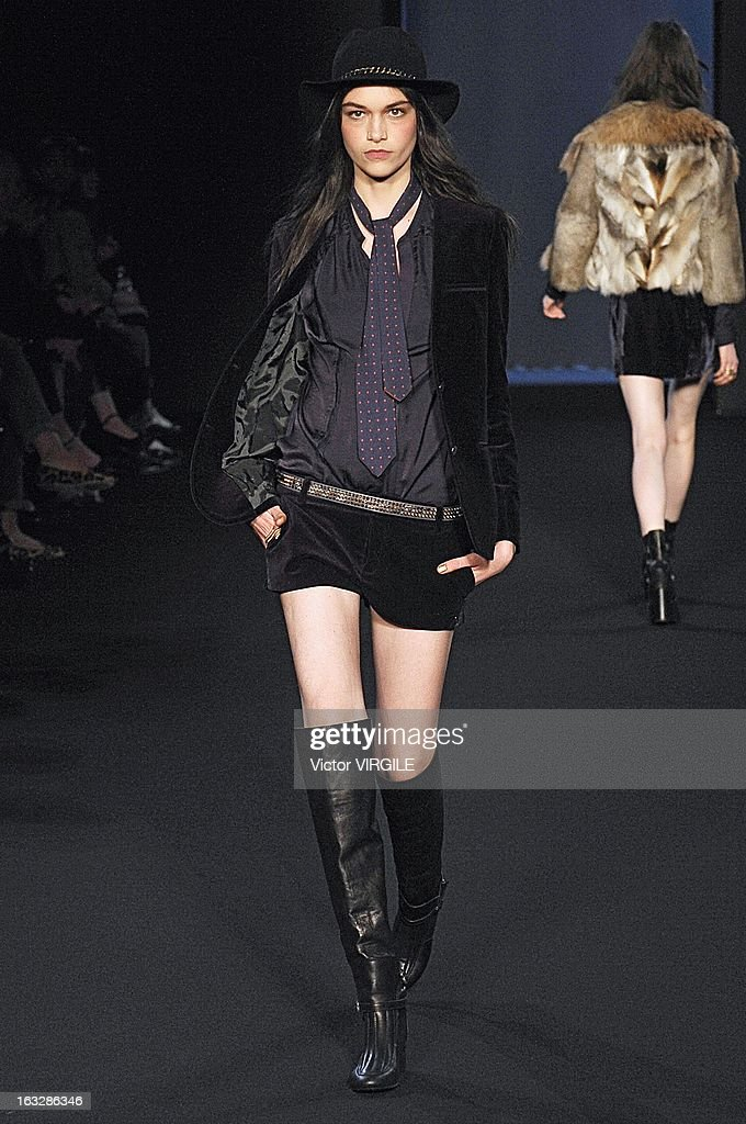 Isabella Melo walks the runway during the Zadig & Voltaire Fall/Winter 2013 Ready-to-Wear show as part of Paris Fashion Week at Hotel Westin on March 5, 2013 in Paris, France.