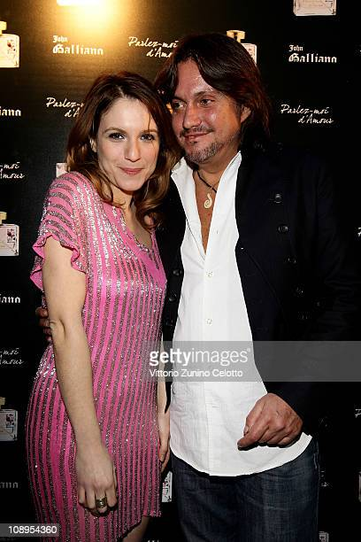 Isabella Ragonese and Cristiano De Andre attend the John Galliano perfume launch held at the Plastic on February 9 2011 in Milan Italy