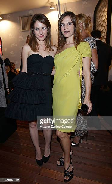Isabella Ragonese and Stefania Montorsi attends The Ciak Party hosted by the Lancia Cafe on September 7 2010 in Venice Italy