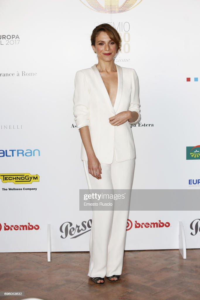 Isabella Ragonese attends 2017 Globi D'Oro Awards at Villa Medici on June 14, 2017 in Rome, Italy.