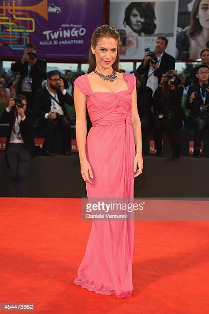Isabella Ragonese attends the 'Il Giovane Favoloso' premiere during the 71st Venice Film Festival at Sala Grande on September 1 2014 in Venice Italy
