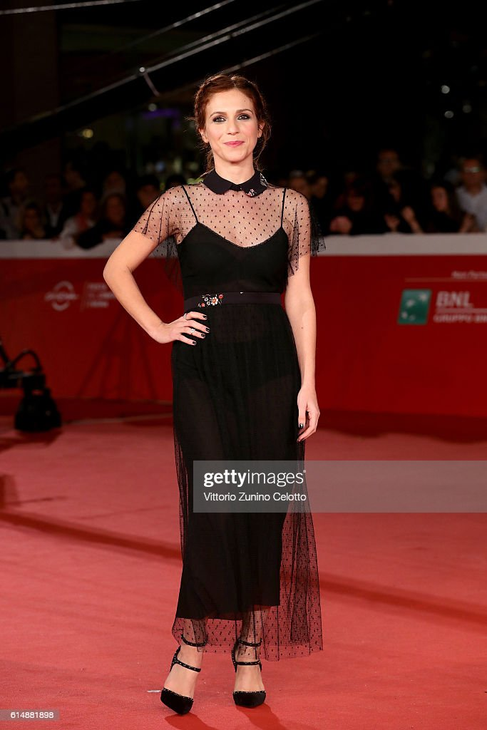 Isabella Ragonese walks a red carpet for 'Sole Cuore Amore' during the 11th Rome Film Festival at Auditorium Parco Della Musica on October 15, 2016 in Rome, Italy.