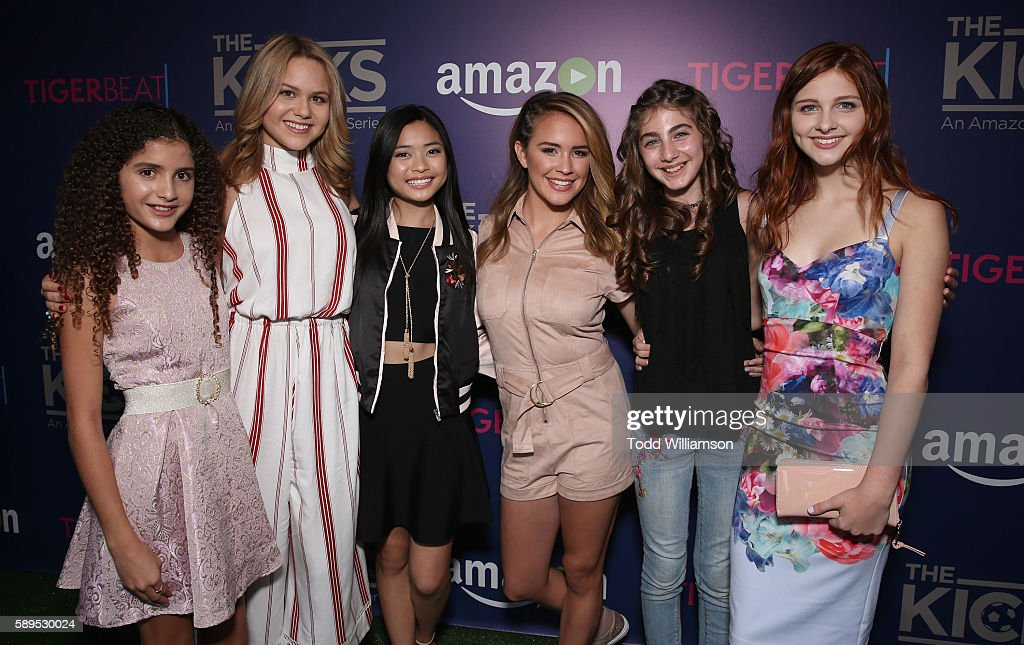 Isabella Revel Isabella Acres Ashley Liao Sixx Orange Sophia Mitri Schloss and Jane Widdop attend the Premiere Of 'The Kicks' celebrated by Amazon...
