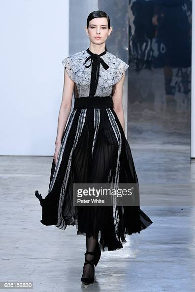 Isabella Ridolfi walks the runway at Carolina Herrera show during New York Fashion Week on February 13 2017 in New York City