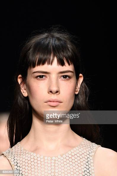 Isabella Ridolfi walks the runway at Narciso Rodriguez show during New York Fashion Week on on February 14 2017 in New York City