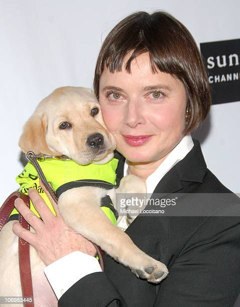 Isabella Rossellini and Goosey during Isabella Rossellini and Dean Kamen Celebrate The Sundance Channel's Series 'Iconoclasts' at Cullman Hall of the...