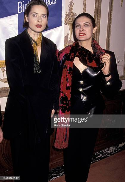 Isabella Rossellini and Paloma Picasso during 18th Annual Cosmetic Industry Beauty Ball at Waldorf Hotel in New York City New York United States