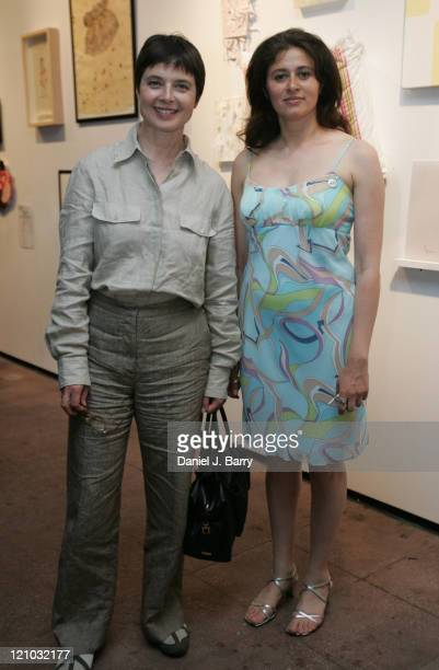 Isabella Rossellini and Veronica Mijelshon Gallery Director at the Spring Gala Art Exhibition and Benefit Sale held at Spike Gallery Monday June 6...