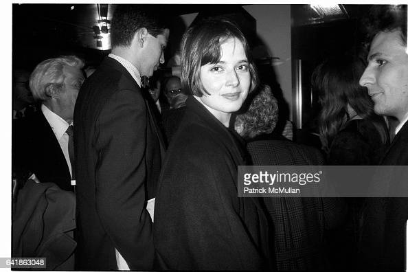 Isabella Rossellini at Federico Fellini's film premiere of Fred and Ginger at the Museum of Modern Art March 26 1986