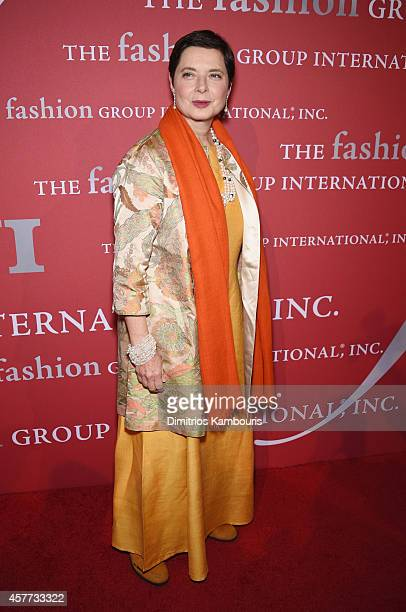 Isabella Rossellini attends the 31st Annual FGI Night of Stars event at Cipriani Wall Street on October 23 2014 in New York City