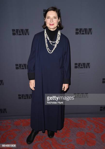 Isabella Rossellini attends the BAM Presents The Alan Gala at on April 4 2017 in the Brooklyn borough of New York City