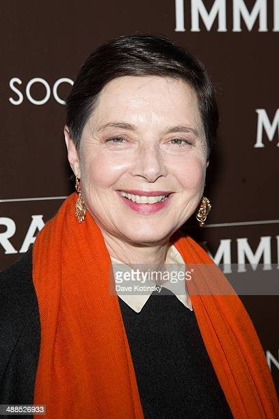 Isabella Rossellini attends the Dior Vanity Fair with The Cinema Society premiere of The Weinstein Company's 'The Immigrant' at The Paley Center for...