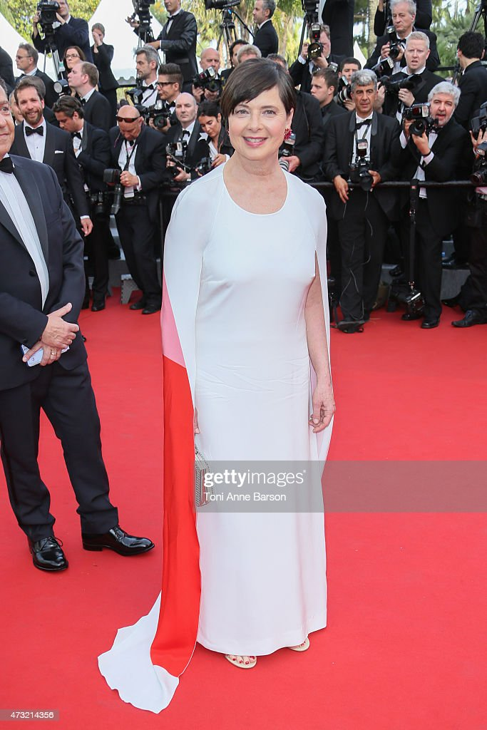 <a gi-track='captionPersonalityLinkClicked' href=/galleries/search?phrase=Isabella+Rossellini&family=editorial&specificpeople=209153 ng-click='$event.stopPropagation()'>Isabella Rossellini</a> attends the opening ceremony and 'La Tete Haute' ('Standing Tall') premiere during the 68th annual Cannes Film Festival on May 13, 2015 in Cannes, France.