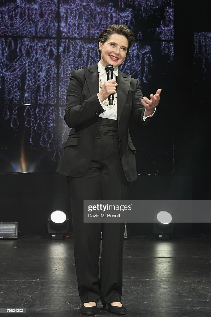 <a gi-track='captionPersonalityLinkClicked' href=/galleries/search?phrase=Isabella+Rossellini&family=editorial&specificpeople=209153 ng-click='$event.stopPropagation()'>Isabella Rossellini</a> during the Lancome Celebrates 80 Years of Beauty With All Its Ambassadresses on July 7, 2015 in Paris, France.