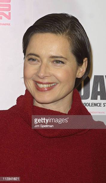 Isabella Rossellini during VDay 2002 New York at Hammerstein Ballroom in New York City New York United States