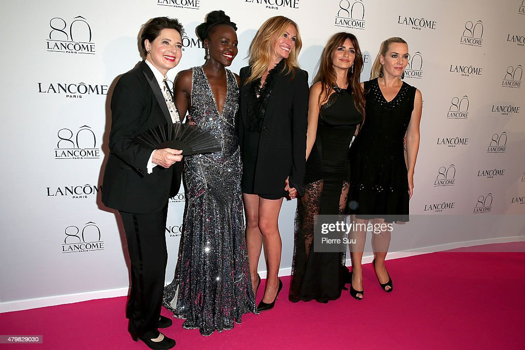 Isabella Rossellini, Lupita Nyong'o, Julia Roberts, Penelope Cruz and Kate Winslet attend the Lancome 80th Anniversary Party as part of Paris Fashion Week Haute Couture Fall/Winter 2015/2016 on July 7, 2015 in Paris, France.
