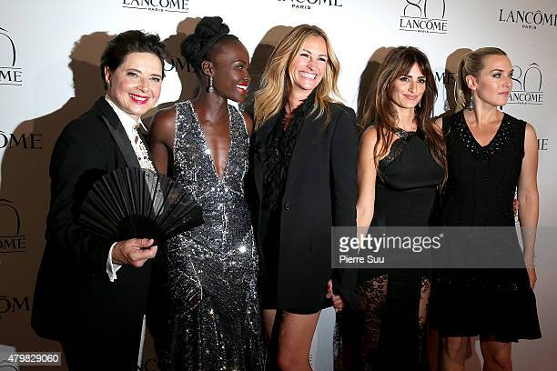 Isabella Rossellini Lupita Nyong'o Julia Roberts Penelope Cruz and Kate Winslet attend the Lancome 80th Anniversary Party as part of Paris Fashion...