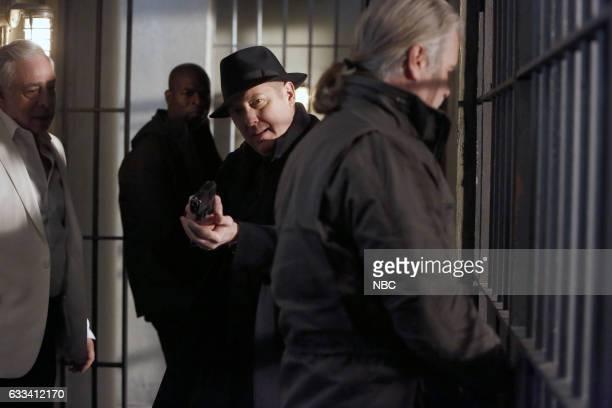 THE BLACKLIST 'Isabella Stone #34' Episode 413 Pictured Anthony Skordi as Stratos Sarantos James Spader as Raymond 'Red' Reddington