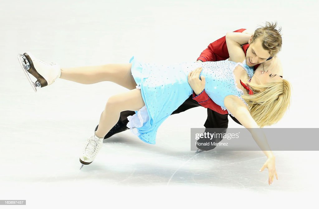 Isabella Tobias and Deividas Stagniunas of Lithuania compete in the Ice Dance Short Dance during the 2013 ISU World Figure Skating Championships at Budweiser Gardens on March 14, 2013 in London, Canada.
