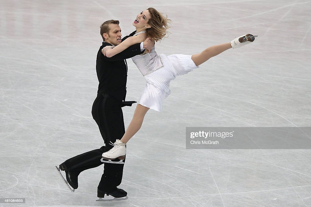 Isabella Tobias and Devidas Stagniunas of Lithuania compete in the Ice Dance Short Dance during ISU World Figure Skating Championships at Saitama Super Arena on March 28, 2014 in Saitama, Japan.