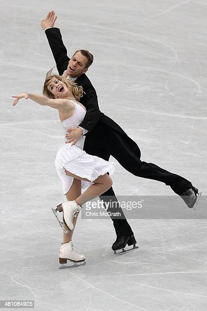 Isabella Tobias and Devidas Stagniunas of Lithuania compete in the Ice Dance Short Dance during ISU World Figure Skating Championships at Saitama...
