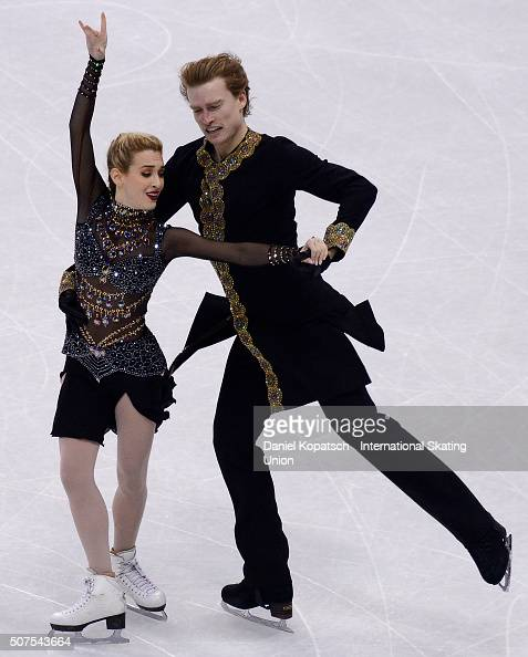 Isabella Tobias and Ilia Tkachenko of Israel perform during Ice Dance Free Dance on day four of the ISU European Figure Skating Championships 2016 on...