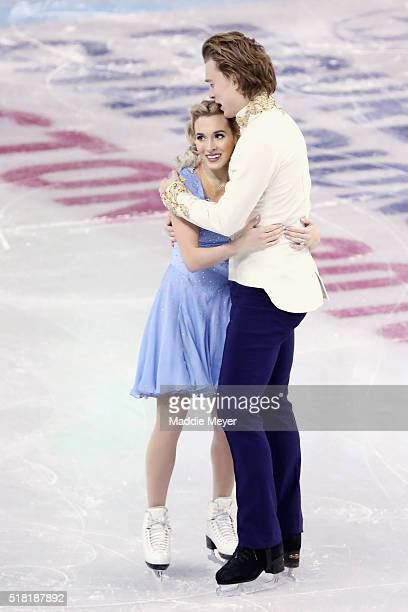 Isabella Tobias and Ilia Tkachenko of Israel skate in the Ice Dance Short program during day 3 of the ISU World Figure Skating Championships 2016 at...