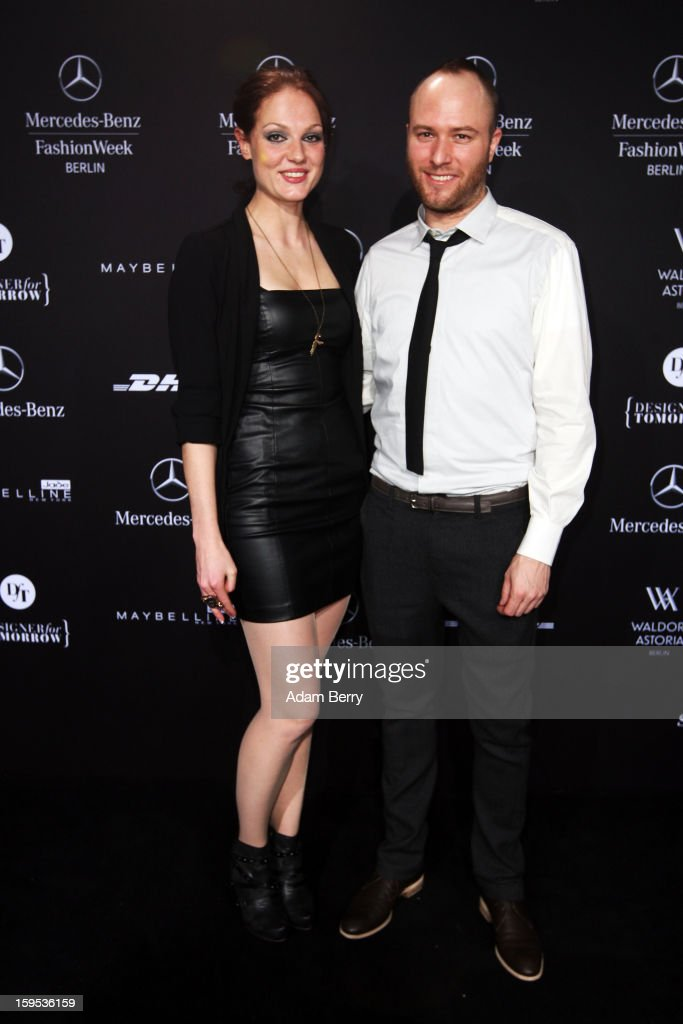Isabella Vinet and Marc Stone attend Marc Stone Autumn/Winter 2013/14 fashion show during Mercedes-Benz Fashion Week Berlin at Brandenburg Gate on January 15, 2013 in Berlin, Germany.