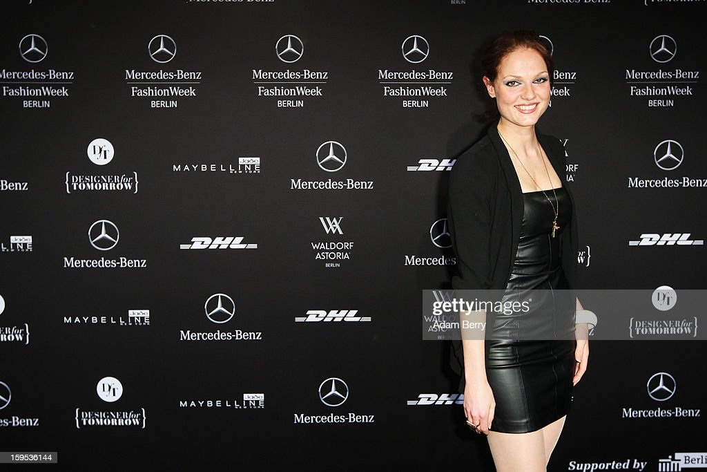 Isabella Vinet attends Marc Stone Autumn/Winter 2013/14 fashion show during Mercedes-Benz Fashion Week Berlin at Brandenburg Gate on January 15, 2013 in Berlin, Germany.