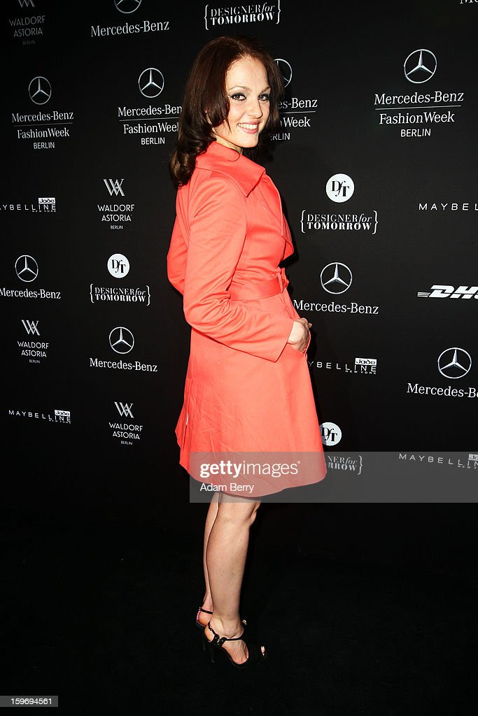 Isabella Vinet attends Sebastian Ellrich Autumn/Winter 2013/14 fashion show during Mercedes-Benz Fashion Week Berlin at Brandenburg Gate on January 18, 2013 in Berlin, Germany.