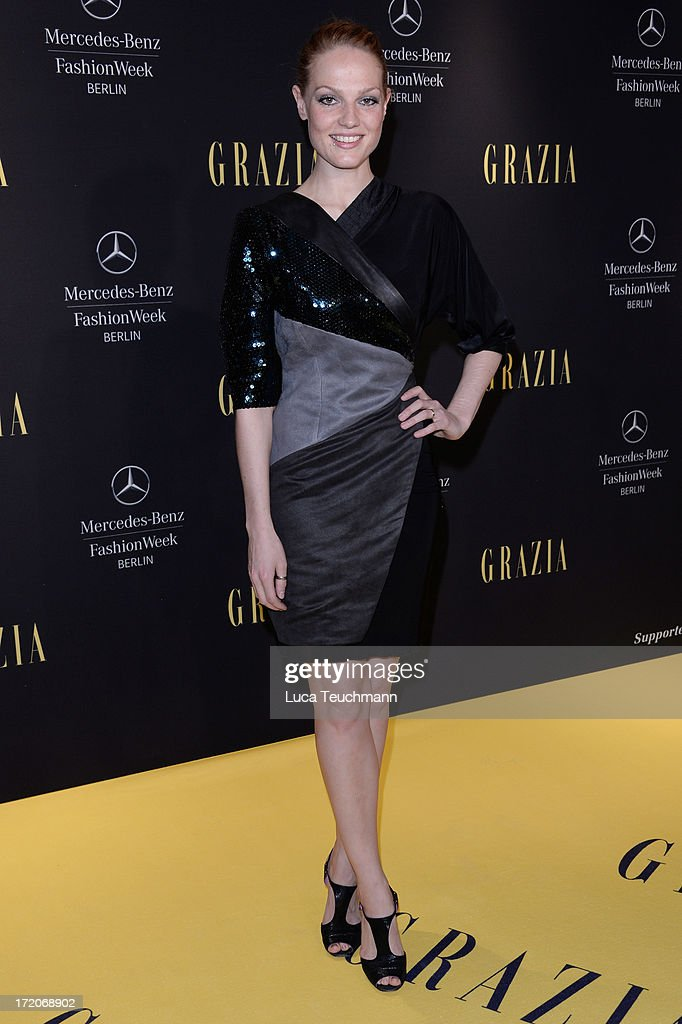 Isabella Vinet attends the Mercedes-Benz Fashion Week Berlin Spring/Summer 2014 Preview Show by Grazia at the Brandenburg Gate on July 1, 2013 in Berlin, Germany.